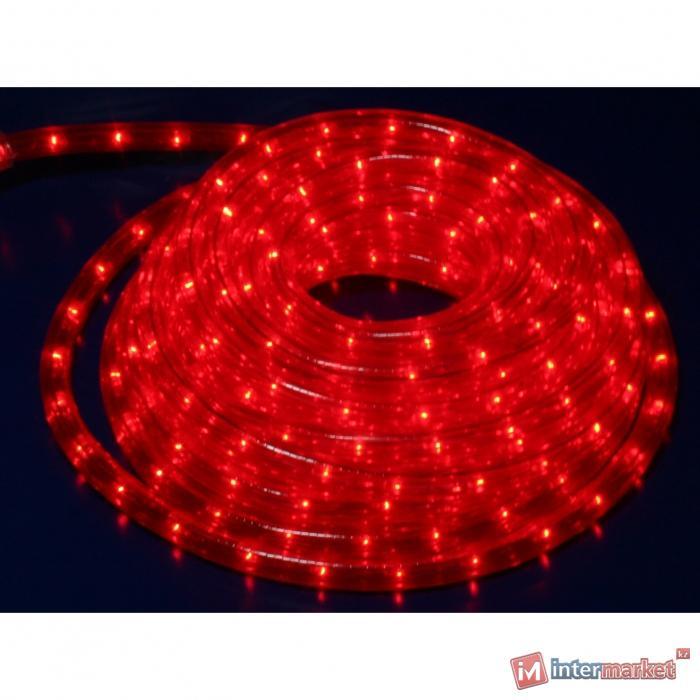 Гирлянда роуп лайт (дюралайт) 9м красная кабель черный 1,8м стартовая Ropelight d13мм 324диода MICRO outdoor
