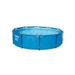 Каркасный бассейн Steel Pro MAX 305 х 76 см, BESTWAY, 56406, Винил, 4678 л., Стальной каркас, Синий