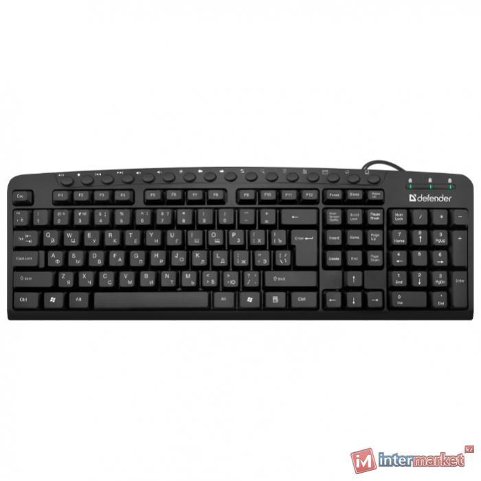 Клавиатура проводная Defender Focus HB-470 RU/ENG,черный,мультимедиа, НОВИНКА!