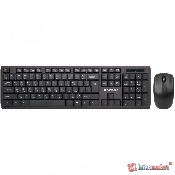 Комплект беспроводной клавиатура+мышь Defender Harvard C-945 RU черный