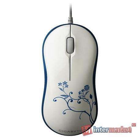 Мышь Gigabyte M5050S, White/Blue, USB