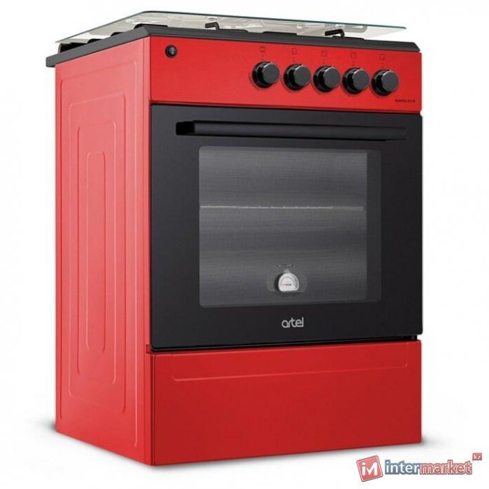 Плита газовая электрическая Artel MILAGRO 10 -E (красный)