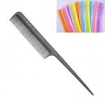 """Расчёска """"ES-114"""", с частыми зубьями и пластмассовым хвостиком, нейлон. (цветные)"""